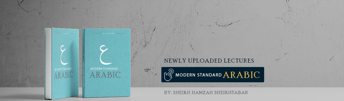 Newly Added Lesson: Modern Standard Arabic